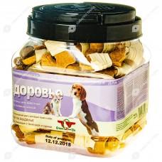 GreenQZin ЗДОРОВЬЕ лакомства для собак галеты злаковые с телятиной и сурими