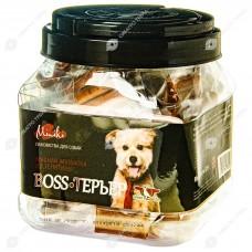 GreenQZin BOSS-ТЕРЬЕР колбаски для собак мини пород ТЕЛЯТИТНА 520 г