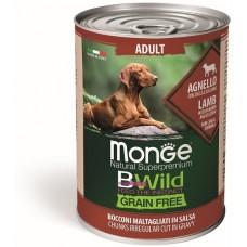 Monge Dog BWild GF из ягненка с тыквой и кабачками, консервы для собак