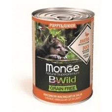 Monge BWild PUPPY консервы для щенков с уткой и тыквой 400 гр