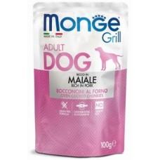 Monge Dog Grill Pouch паучи для собак со свининой