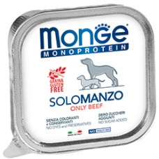 Monge Dog Monoprotein Solo паштет из говядины для собак