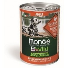 Monge BWild консервы для собак индейка с тыквой 400 гр