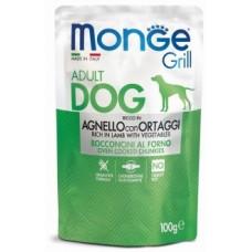Monge Dog Grill Pouch паучи для собак со вкусом ягненка с овощами
