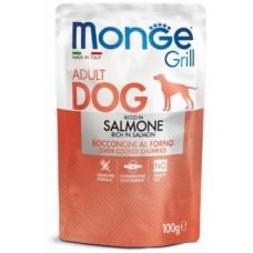 Monge Dog Grill Pouch паучи для собак с лососем