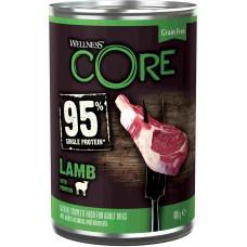 Wellnes Core Консервы для собак из ягненка с тыквой