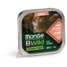 Влажный корм Monge Cat BWild GRAIN FREE для кошек, беззерновой, из лосося с овощами, консервы