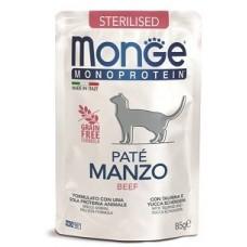 Monge Cat Monoprotein для стерилизованных кошек, из говядины