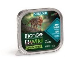 Monge Cat BWild GRAIN FREE для стерилизованных кошек, беззерновой