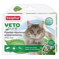 Beaphar Капли Flea Drops от блох и клещей для кошек 3 пипетки