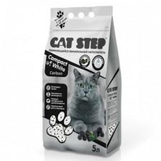 Cat Step Compact White Carbon наполнитель бентонитовый комкующийся 5 л