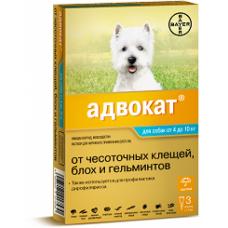 Bayer Адвокат 100 для собак 4-10 кг (3 пипетки х 1 мл)