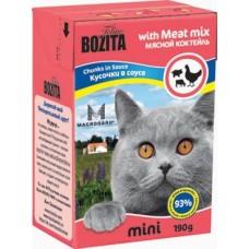 Bozita Feline Кусочки в соусе для кошек мясной коктель 190гр