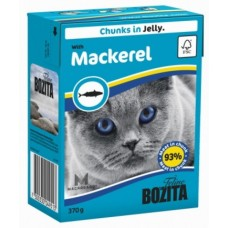 Bozita Feline консервы для кошек Кусочки скумбрии в желе 370 гр