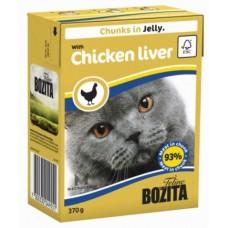 Bozita Feline Кусочки куриной печени в желе 370 гр