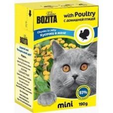 BOZITA консервы для кошек Кусочки птицы в желе 190 гр