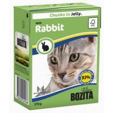 Bozita Feline кусочки в желе с Кроликом 370 гр