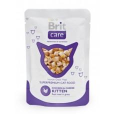 Brit Care для котят с курицей и сыром 80 гр