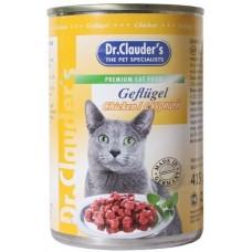 Dr.Clauders консерва для кошек с курицей в соусе 415 гр