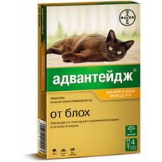 Bayer Адвантейдж 40 К для кошек до 4 кг (4 пипетки х 0,4 мл)