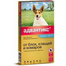 Bayer Адвантикс 100 С для собак 4-10 кг (4 пипетки х 1 мл)