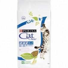 Cat Chow Feline тройная защита корм для кошек с индейкой 15 кг