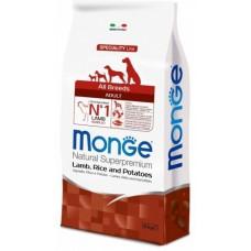 Monge Dog Speciality корм для собак всех пород ягненок в Новосибирске