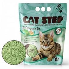 Cat Step Tofu Green Tea наполнитель растительный комкующийся 6 л