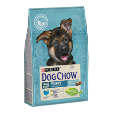 DOG CHOW Large Breed Puppy корм для щенков крупных пород с индейкой