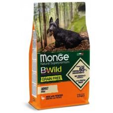 Monge Dog BWild GRAIN FREE Mini беззерновой корм взрослых собак мелких пород, с уткой 2,5 кг