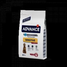 Advance Sensitive для взрослых собак, ягненок с рисом