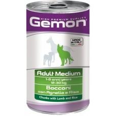 Gemon Dog Medium консервы для собак средних пород кусочки ягненка с рисом 1250г