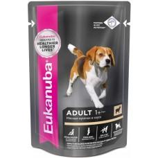Eukanuba Dog паучи корм для собак с ягненком в соусе 100 г