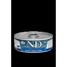 Farmina N&D Ocean консервы для кошек Сибас, сардина, треска 80 гр