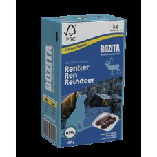 BOZITA Tetra Pac Naturals консерва для собак с мясом оленя в желе 370гр