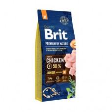 BRIT Premium Junior M корм для щенков средних пород