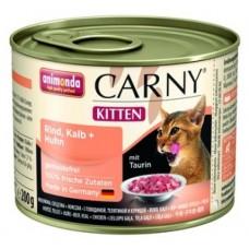 Animonda CARNY KITTEN консерва для котят Говядина/Курица/Кролик
