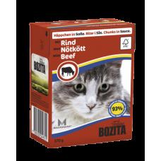 Bozita Feline Кусочки говядины в соусе для кошек мясной 370 гр