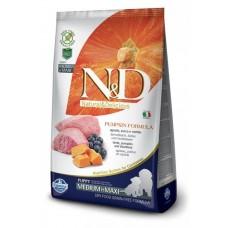 Farmina N&D Pumpkin Puppy корм для щенков средних и крупных пород ягненок с черникой и тыквой