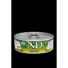 Farmina N&D консервы для кошек Кабан с яблоком 80 гр