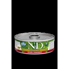 Farmina N&D консервы для кошек Курица гранат 80 гр