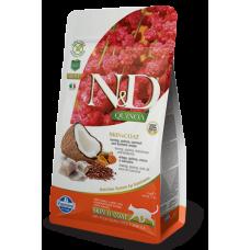 Farmina N&D Cat Quinoa корм для кошек для шерсти Сельдь, киноа, кокос и куркума