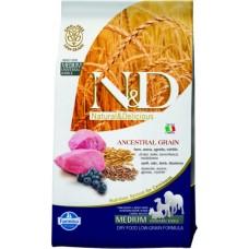 Farmina N&D Adult для взрослых собак ягненок, черника, злаки