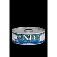Farmina N&D Ocean консервы для кошек Тунец и креветки 80 гр