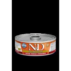 Farmina N&D беззерновой влажный корм кошек Курица, тыква и гранат 80 гр