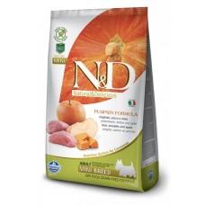 Farmina N&D GF Pumpkin Mini беззерновой корм для собак кабан, тыква, яблоко