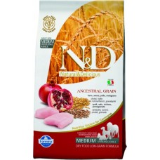 Farmina N&D Low Grain Dog Adult Mini для взрослых мелких пород курица