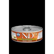 Farmina N&D беззерновой влажный корм кошек Оленина и тыква 80 гр