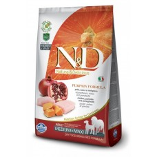 Farmina N&D Dog GF Adult Pumpkin корм для собак всех пород курица, тыква, гранатом