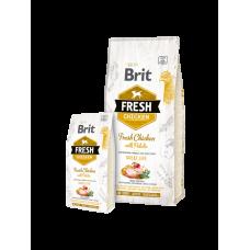 Brit Fresh корм для собак всех пород с курицей и картофелем